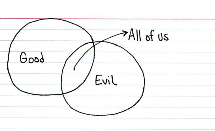 Jessica Hagy- The One You Feed good-evil